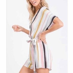 Pants - Multi Striped Romper